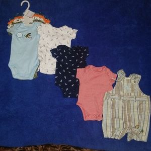 Carters bby boy bodysuits, size 3 months, 9 pieces